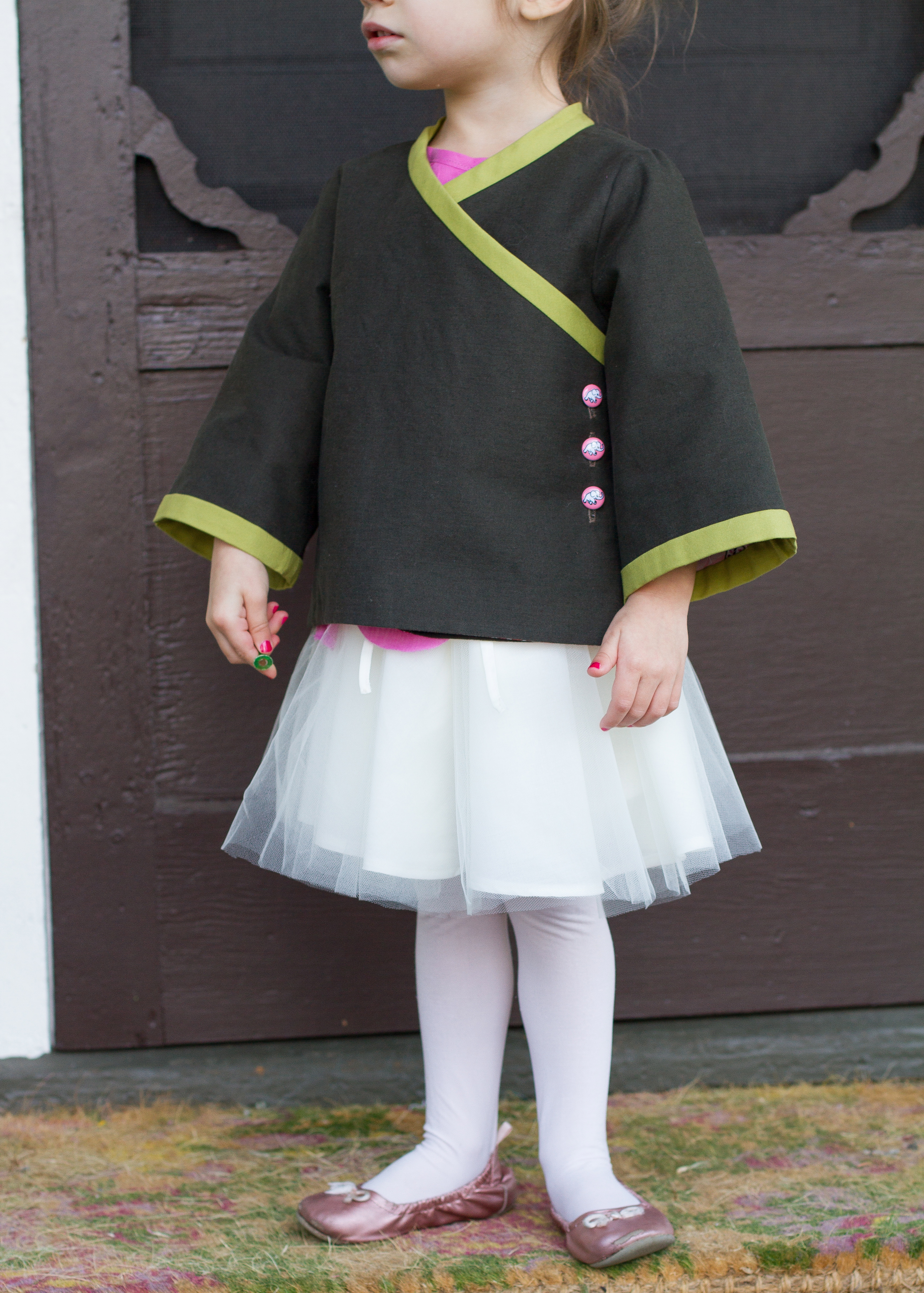 Prp Week 5 Japanese Tea Party Skirt As Top Petal Olive Im Now Calling This Her Ballet Ninja Jacket Other Post Titles I Considered Were For Elephants And Tops