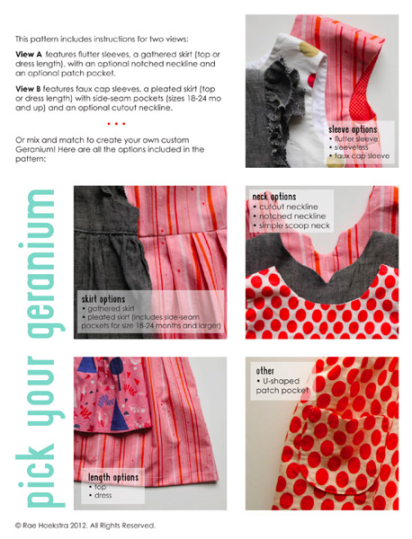 geranium dress options