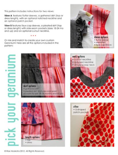 geranium dress options